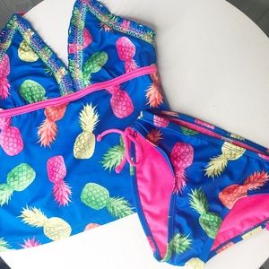 Justice pineapple two piece size 10